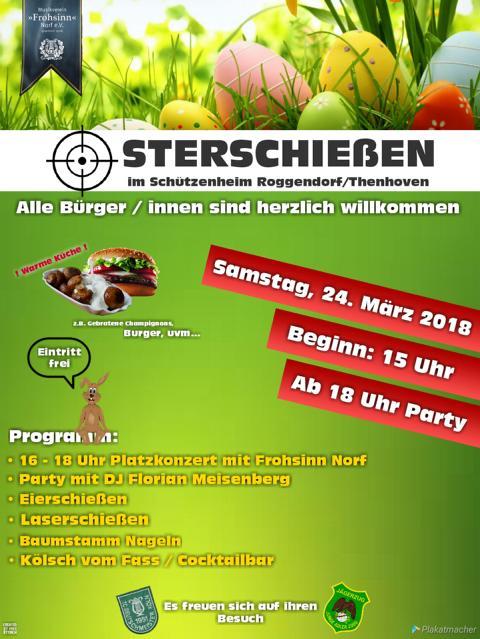 Osterschießen 2018 im Schützenheim in Köln-Roggendorf/Thenhoven
